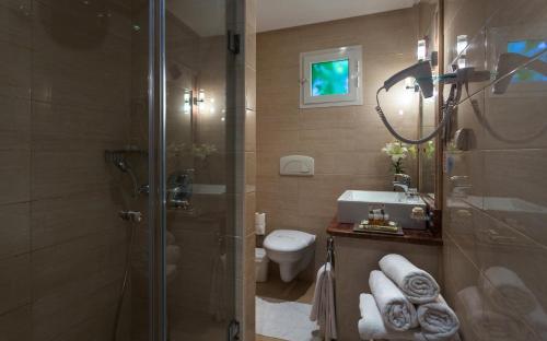 A bathroom at The Sindbad