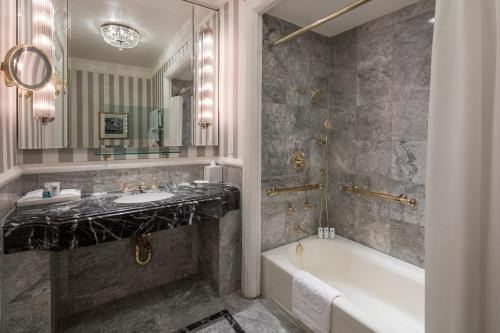 A bathroom at The St. Regis New York