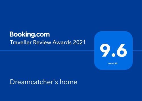 Сертификат, награда, табела или друг документ на показ в Dreamcatcher's home
