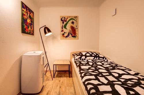 Postel nebo postele na pokoji v ubytování Mini apartmán Miró
