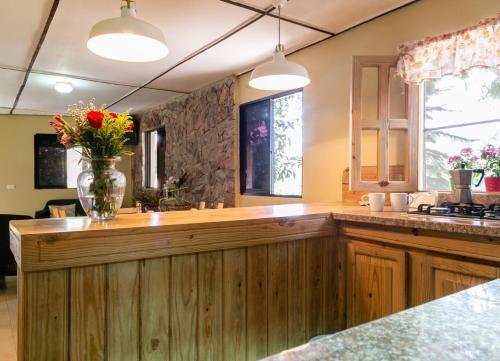 A kitchen or kitchenette at Hotel Rancho Constanza