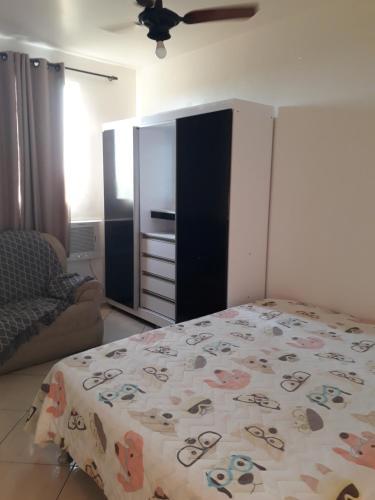 A bed or beds in a room at Apartamento Orquídea