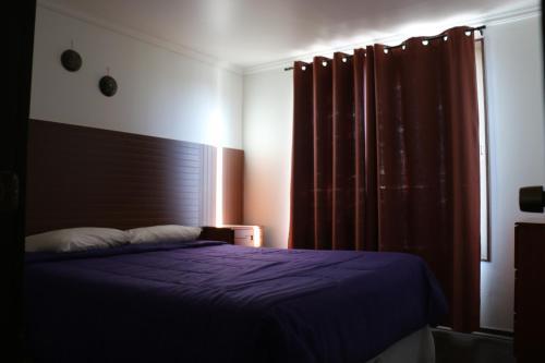 Cama o camas de una habitación en Cabañas Kakanchik