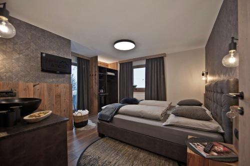 Ein Sitzbereich in der Unterkunft Villa Michaela