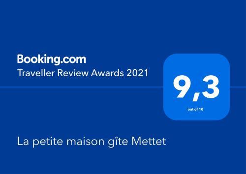 Certificat, récompense, panneau ou autre document affiché dans l'établissement La petite maison gîte Mettet