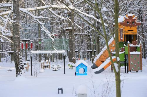 Children's play area at Enklawa Białowieska Forest & Spa
