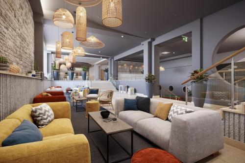 Ein Sitzbereich in der Unterkunft Rubin Sunny Hotel by Valamar
