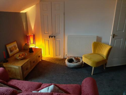 Colourful, cosy 1 bed apartment & enclosed garden.