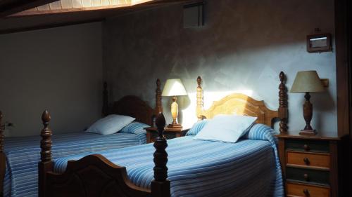 Cama o camas de una habitación en Casa Rural Ekoigoa