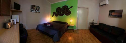 Ein Bett oder Betten in einem Zimmer der Unterkunft Banyan Tree