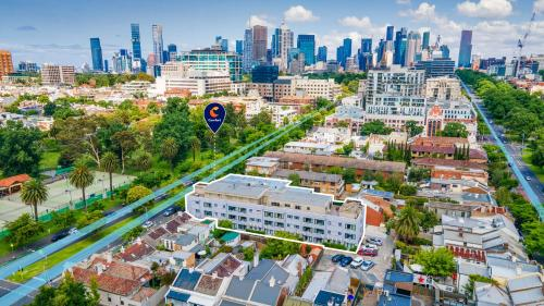 A bird's-eye view of Comfort Hotel East Melbourne