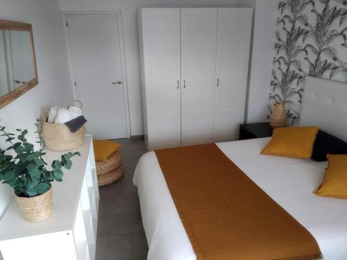 Cama o camas de una habitación en Apartment Terrace Benalmádena