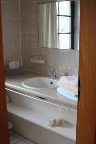 Ein Badezimmer in der Unterkunft Landhotel Belitz