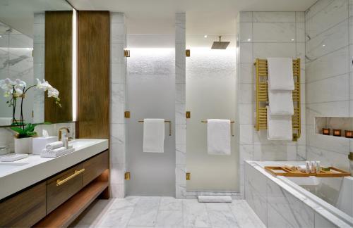 A bathroom at The Dupont Circle Hotel