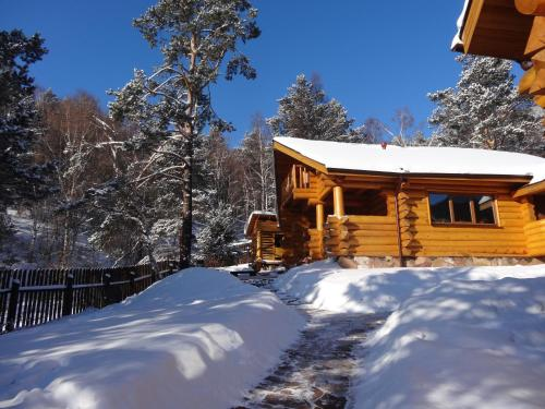 Guesthouse Alpijskij during the winter