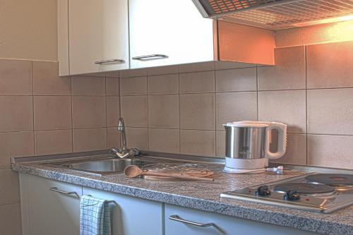 A kitchen or kitchenette at Hotel Am Moosfeld