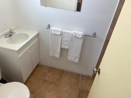 A bathroom at All Seasons Motel