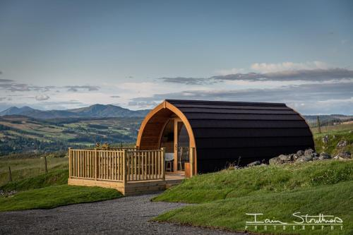 Lawers Luxury Glamping Pod at Pitilie Pods