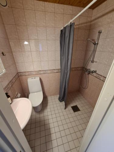 Ванная комната в Gasthaus Kantolankulma