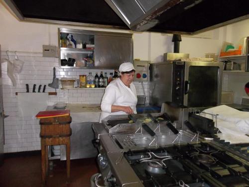 A kitchen or kitchenette at Albergo Ristorante Gori