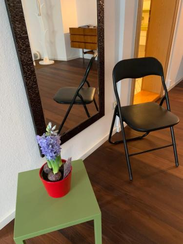 A seating area at Ferienwohnung am Franziskaner Tor