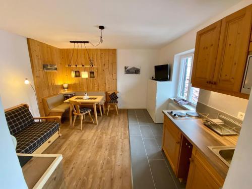 Küche/Küchenzeile in der Unterkunft Alpvital