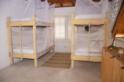 A bunk bed or bunk beds in a room at Secreto Hostel