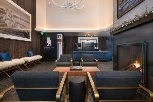 The lobby or reception area at Gravity Haus Vail