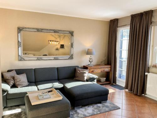Ein Sitzbereich in der Unterkunft Luxus Ferienwohnung schöne Aussicht