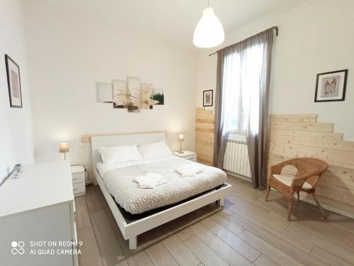Cama o camas de una habitación en Alloggi Palmini