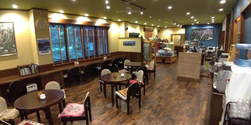A restaurant or other place to eat at Kamikochi Nishi-itoya Mountain lodge