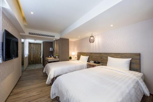 蘭桂坊花園酒店房間的床