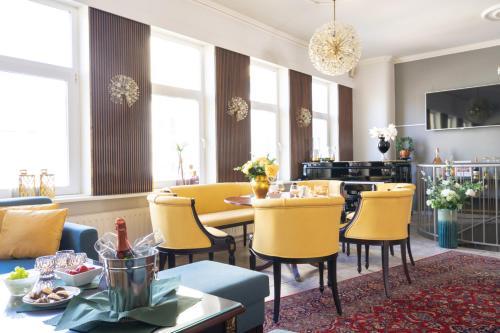En restaurant eller et andet spisested på Hotel Dania