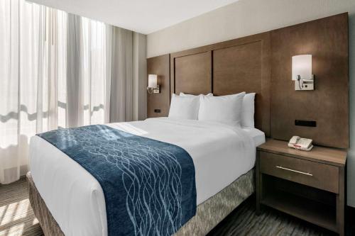 Cama ou camas em um quarto em Comfort Inn & Suites Downtown Brickell-Port of Miami