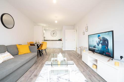 Cosy, new-build apartment with Netflix