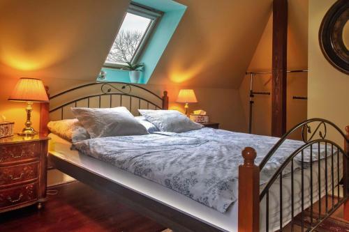 Postel nebo postele na pokoji v ubytování Penzion Na Staré Poště