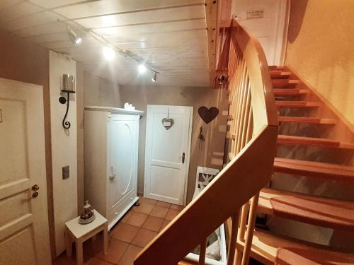 Ein Badezimmer in der Unterkunft Ferienwohnungen Traumblick im Nahetal