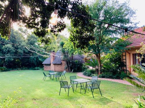 A garden outside Celtis Lane Guest House