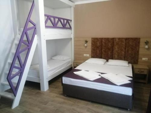 A bunk bed or bunk beds in a room at Telia