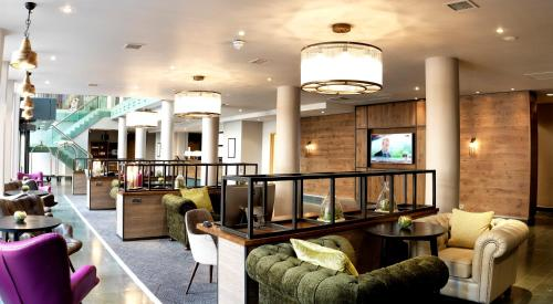 The lobby or reception area at Hilton Garden Inn Birmingham Brindley Place