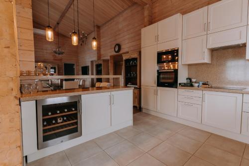 A kitchen or kitchenette at Volleygrad Sports & Health Resort