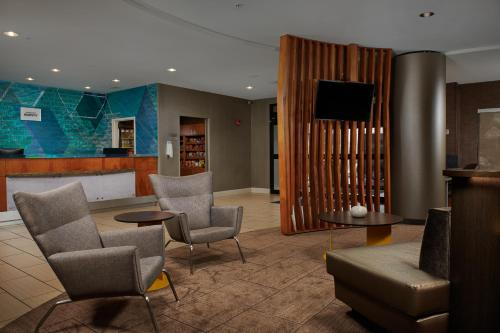 A seating area at SpringHill Suites by Marriott Baton Rouge North / Airport