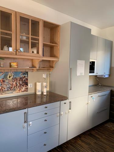 Kuchyň nebo kuchyňský kout v ubytování Haus Schön Business & Holiday