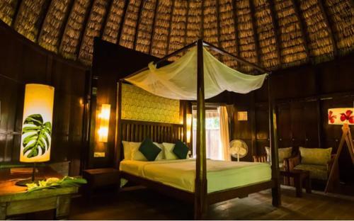 En eller flere senge i et værelse på The Barefoot At Havelock