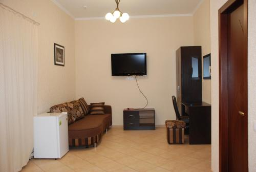A television and/or entertainment center at Villa Lubomir