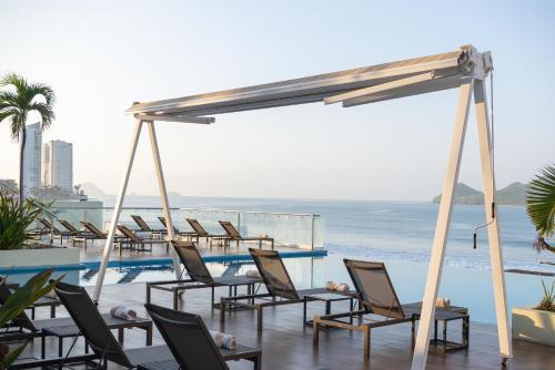 The swimming pool at or near DoubleTree by Hilton Mazatlan, SIN