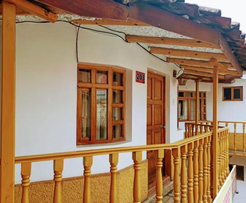 A balcony or terrace at HOSTAL EL VIRREY II