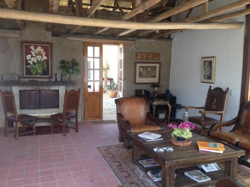 Zona de estar de Casa Lila Hotel