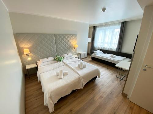A bed or beds in a room at Safestay Vienna