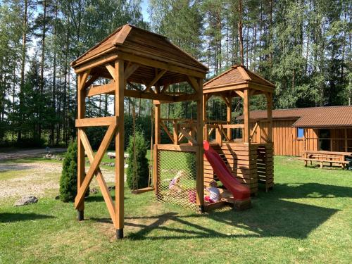 Children's play area at Camping Bušas